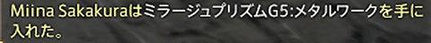 Miina SakakuraはミラージュプリズムG5:メタルワークを手に入れた。