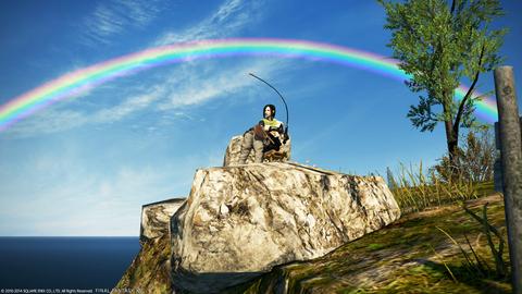 キャンドルキープに架かる虹