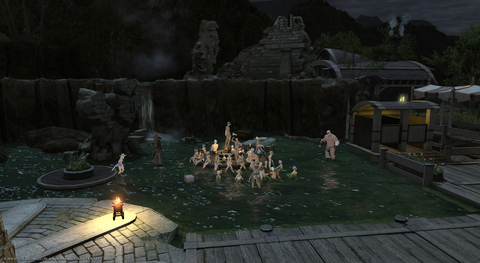 ブロンズレイクの温泉でゆったり