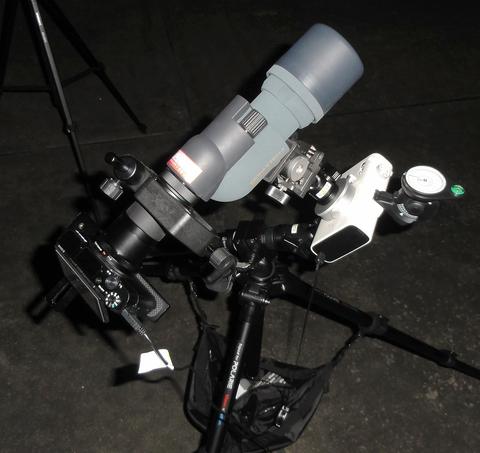 カメラ+フィールドスコープ+赤道儀